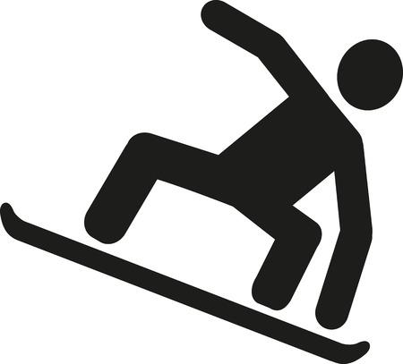 snowboarding: Snowboarding pictogram