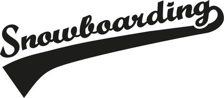 snowboarding: Snowboarding word