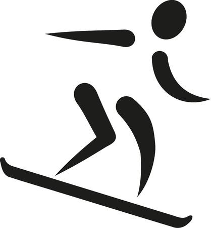 downhill: Snowboarder downhill icon