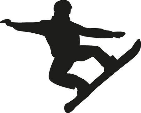 snowboarding: Snowboarding jumping and flying