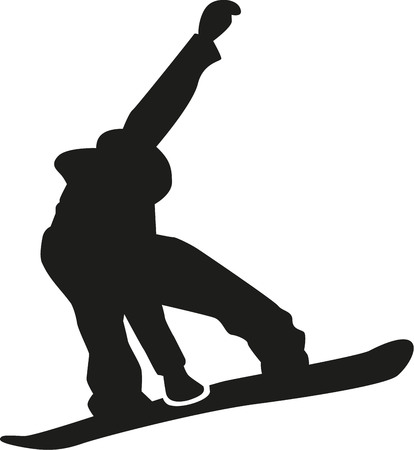 Snowboarder freestyle