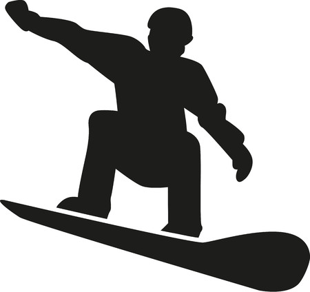 snowboarder: Silhouette of a snowboarder Illustration