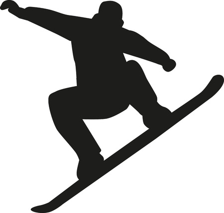 snowboarding: Snowboarding jump Illustration