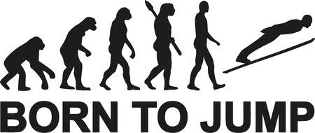 evolucion: saltos de esquí nacido para saltar evolución