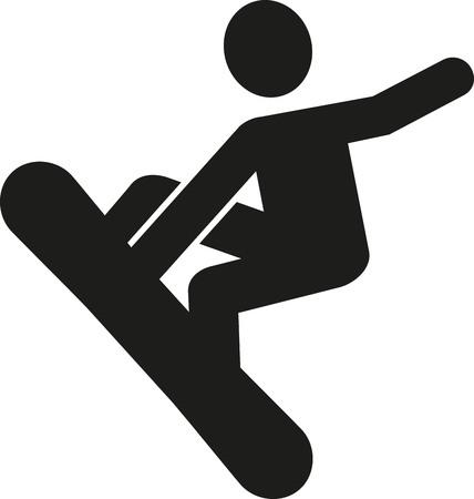 snowboarder: Snowboarder pictogram