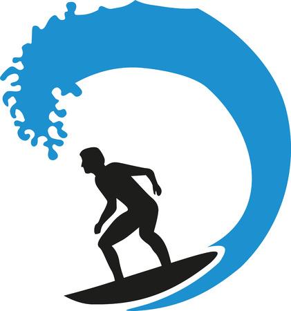 granola: Surfer montar una ola grande