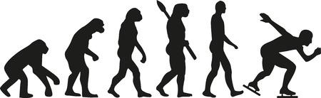 Evoluzione Pattinaggio di velocità Archivio Fotografico - 46784639