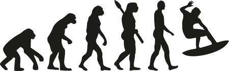 darwin: Surfing evolution Illustration