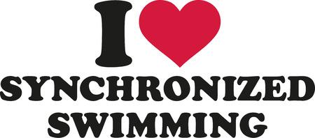 Ik hou van synchroonzwemmen Stock Illustratie