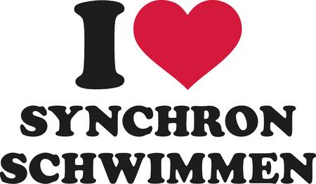 nataci�n sincronizada: Me encanta la nataci�n sincronizada (alem�n) Vectores