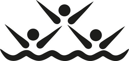 synchronized: Synchronized swimming pictogram