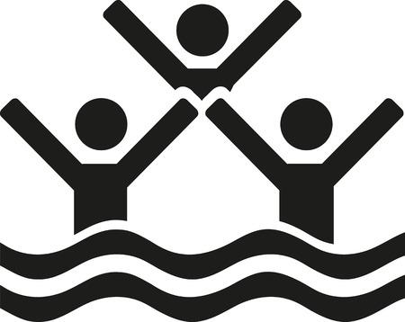 nataci�n sincronizada: nataci�n sincronizada tres personas Vectores