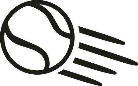 exercise ball: Tennis ball flying Illustration