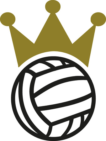 waterpolo: Water polo with crown Vectores