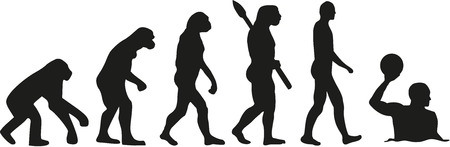 Water polo evolution Illustration