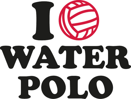 water polo: I heart water polo Illustration
