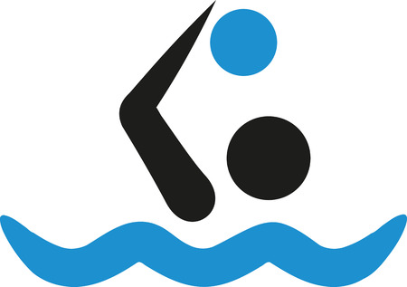 polo ball: Water polo icon in two colors