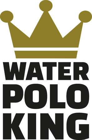water polo: Water polo king with crown