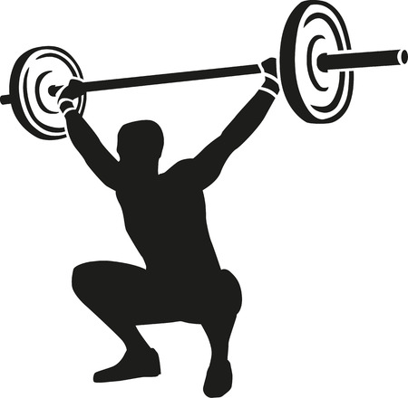 weights: Weightslifter lifts weights