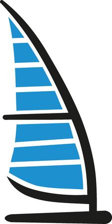 windsurf: Board Windsurfing icon Illustration