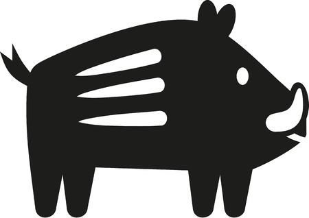 jabali: Icono lindo del cerdo salvaje