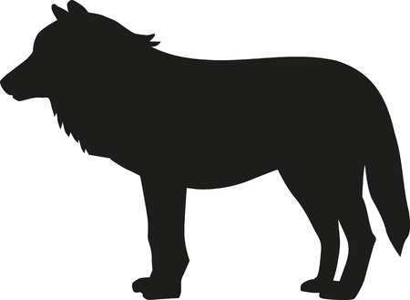 howl: Wolf silhouette