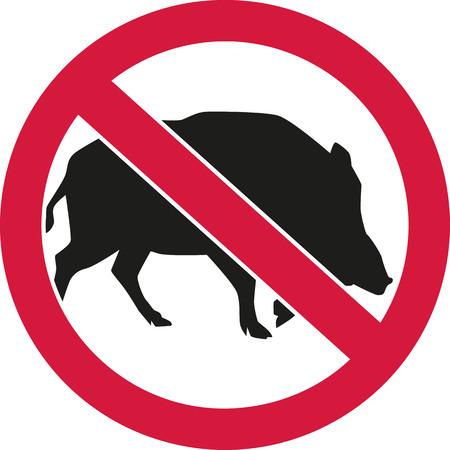forbidden: Wild pigs forbidden