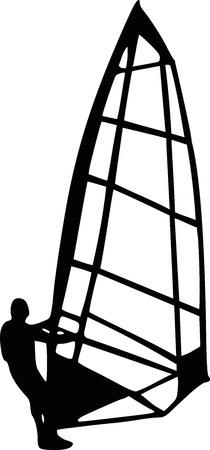 windsurfing: Windsurfing silhouette
