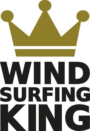 windsurf: rey windsurf Vectores