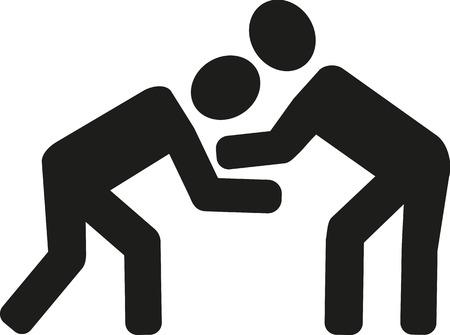 wrestling: Wrestling icon Illustration