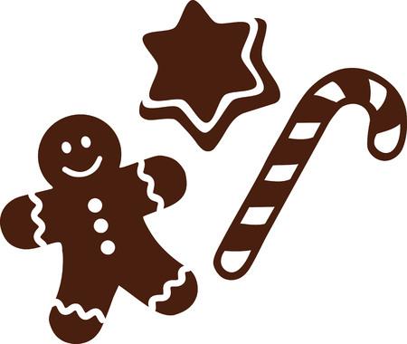 Weihnachten Süßigkeiten mit Plätzchen und Lebkuchen Standard-Bild - 49531790