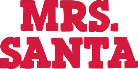 mrs santa: Mrs. Santa Illustration