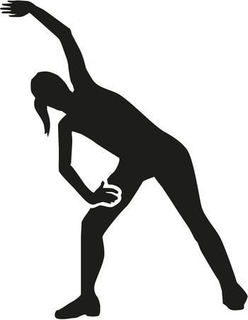 aerobic: Woman doing aerobic exercises