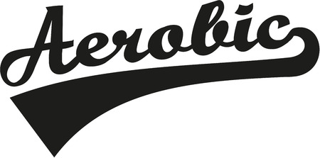 aerobic: Aerobic word Illustration