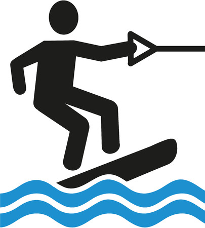 wakeboarding: Wakeboarding pictogram