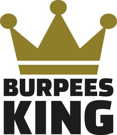 aerobic training: Burpees king Illustration