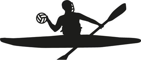 Canoe polo silhouette