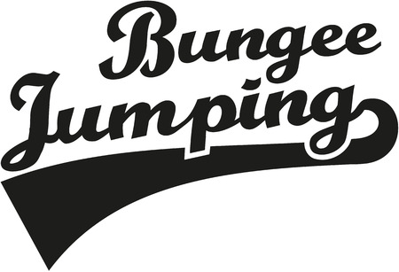 extremely: Bungee jumping word Illustration