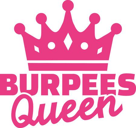 squat: Burpees queen Illustration
