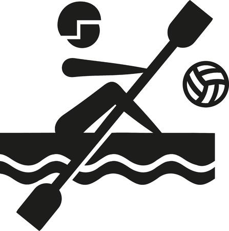 canoe: Canoe polo pictogram