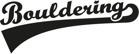 bouldering: Bouldering word retro