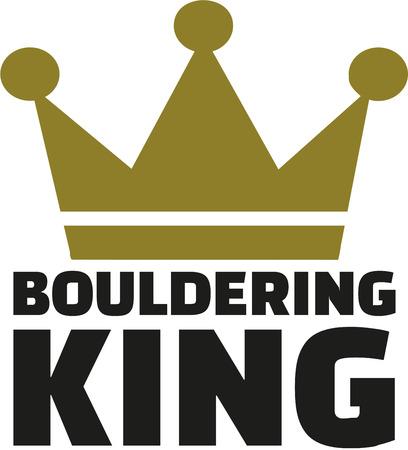 bouldering: Bouldering King Illustration