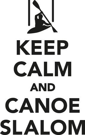 slalom: Keep calm and canoe slalom Illustration