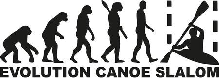 slalom: Evolution canoe slalom Illustration