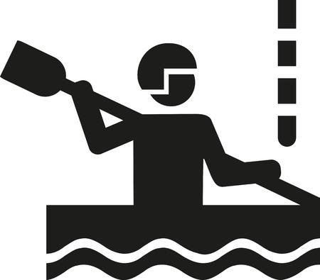 canoe: Canoe slalom pictogram Illustration