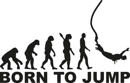 personas saltando: Puenting nacido para saltar