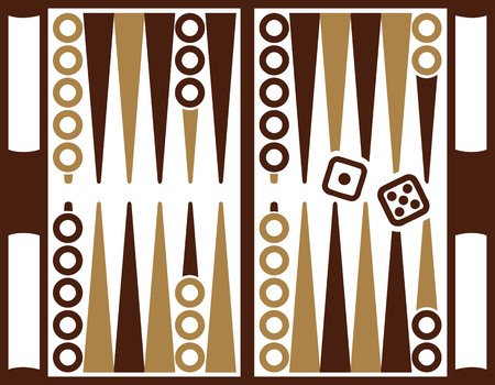 backgammon: Backgammon game with dices Illustration