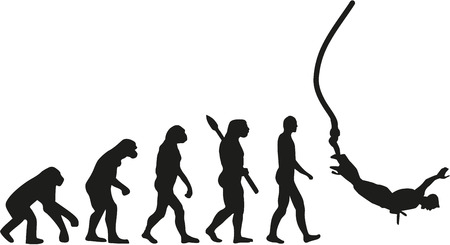 extremely: Bungee jumping evolution Illustration
