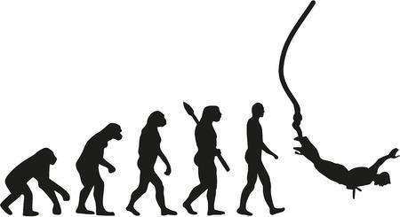 ancestors: Bungee jumping evolution Illustration
