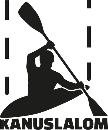 slalom: Canoe slalom with german word